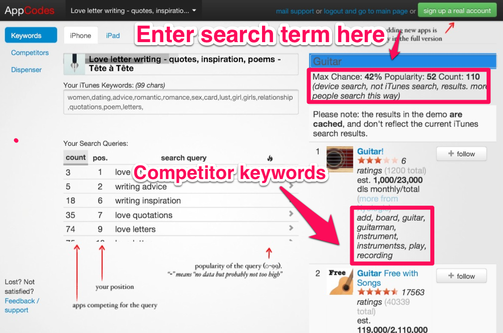 How To Use AppCodes To Find Keywords For App Store SEO