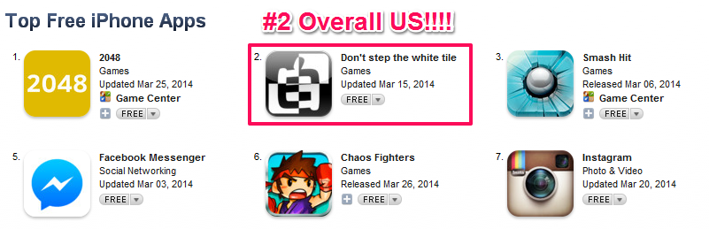 Buy Don't Step The White Tile Clone iOS Source Code For iPhone